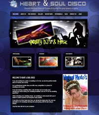Horsham Web Designs - Disco Site